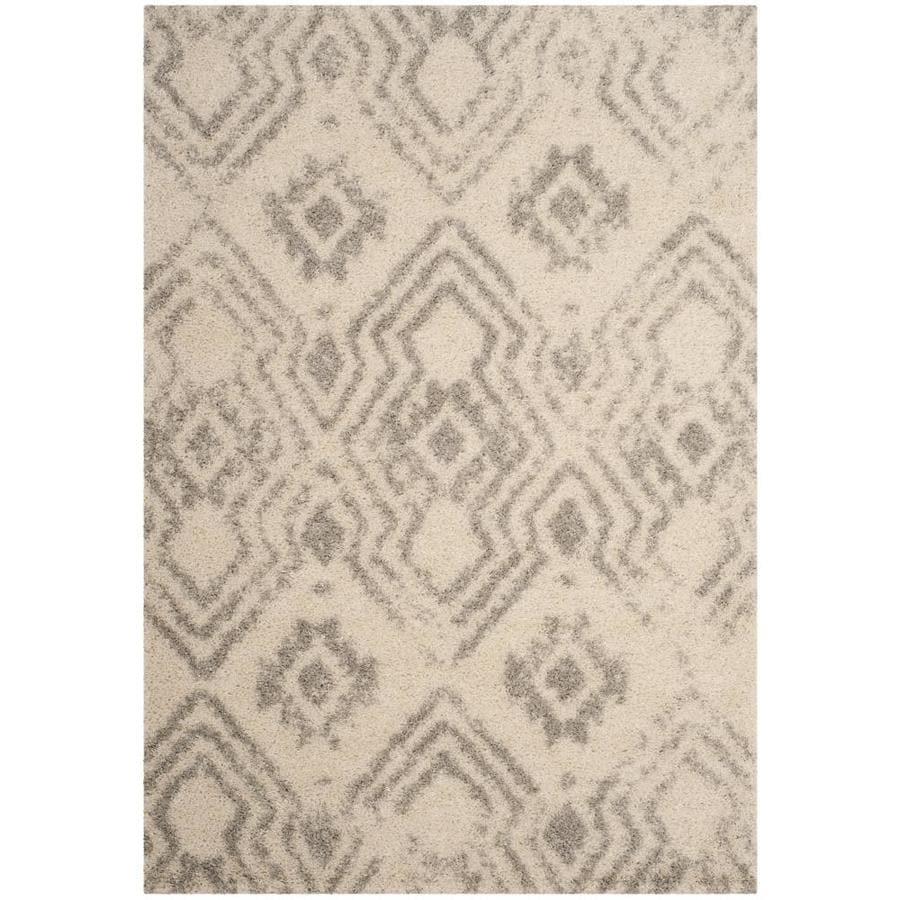 Safavieh Arizona Houston Ivory/Gray Indoor Area Rug (Common: 5 x 8; Actual: 5.1-ft W x 7.5-ft L)