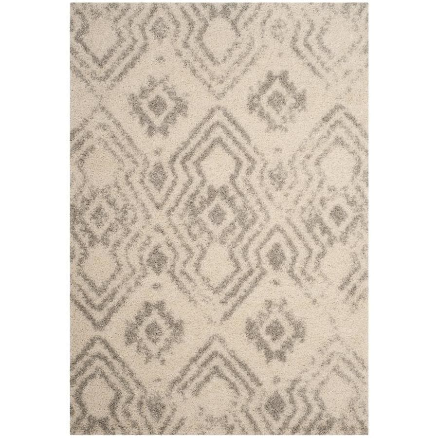 Safavieh Arizona Houston Shag Ivory/Gray Indoor Area Rug