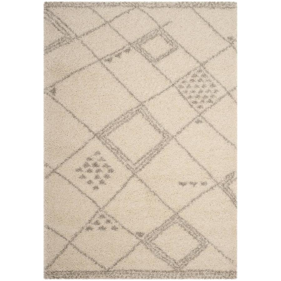 Safavieh Arizona Gus Ivory/Gray Rectangular Indoor Machine-Made Area Rug (Common: 9 X 12; Actual: 9-ft W x 12-ft L)