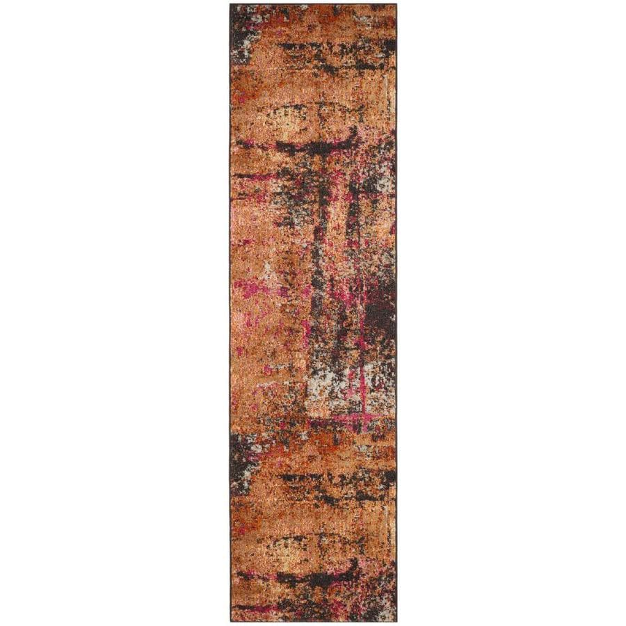 Safavieh Monaco Skild Multi Rectangular Indoor Machine-made Distressed Runner (Common: 2 x 6; Actual: 2.2-ft W x 6-ft)