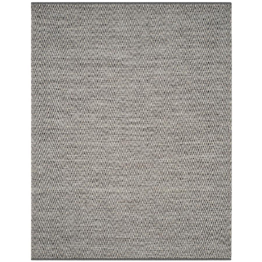 Safavieh Montauk Hobart Ivory/Dark Gray Rectangular Indoor Handcrafted Coastal Area Rug (Common: 9 x 12; Actual: 9-ft W x 12-ft L)