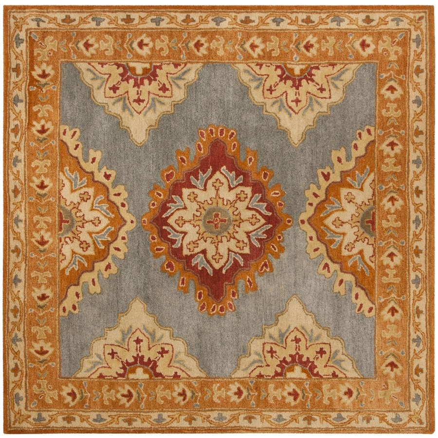 Safavieh Heritage Anand Bluerust Square Indoor Handcrafted Oriental