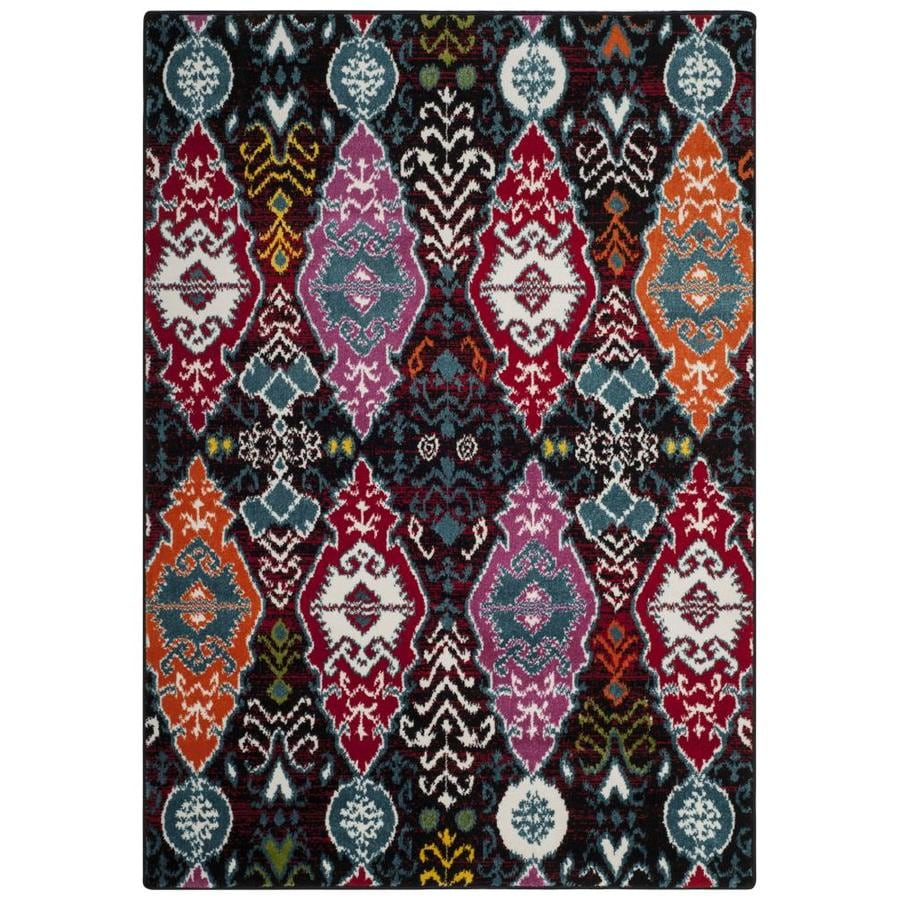 Safavieh Cherokee Diamond Black/Red Rectangular Indoor Machine-Made Lodge Area Rug (Common: 8 x 10; Actual: 8-ft W x 10-ft L)