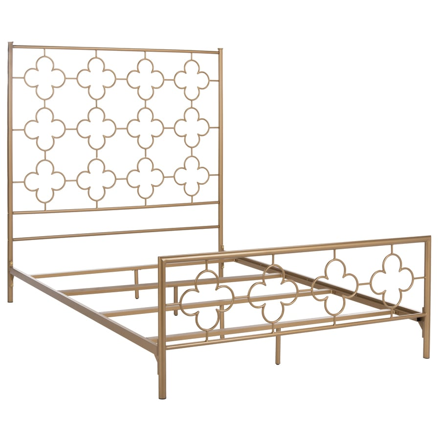 Full Bed Frame.Safavieh Morris Antique Gold Full Bed Frame At Lowes Com