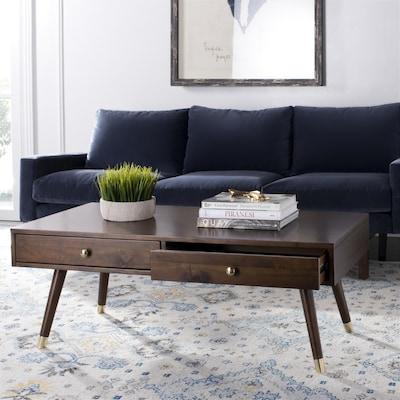 Fine Safavieh Levinson Brown Wood Coffee Table At Lowes Com Inzonedesignstudio Interior Chair Design Inzonedesignstudiocom