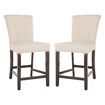 Cool Safavieh Taylor Set Of 2 Beige Counter Stool At Lowes Com Ncnpc Chair Design For Home Ncnpcorg