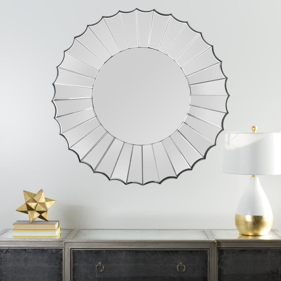 Safavieh Denby Silver Beveled Frameless Wall Mirror
