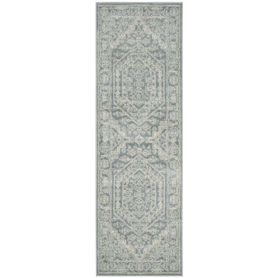 Safavieh Adirondack Herati Slate/Ivory Rectangular Indoor Machine-made Lodge Runner (Common: 2 x 16; Actual: 2.5-ft W x 16-ft)