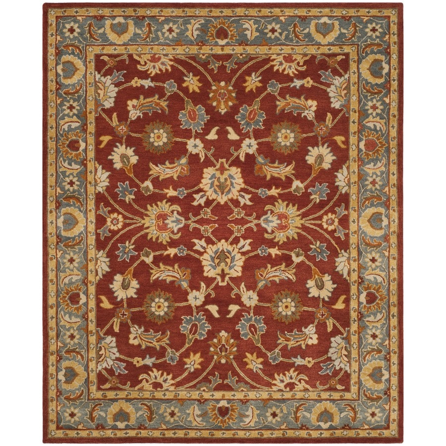 Safavieh Heritage Tenali 8 X 10 Red Blue Indoor Floral Botanical Oriental Handcrafted Area Rug In The Rugs Department At Lowes Com