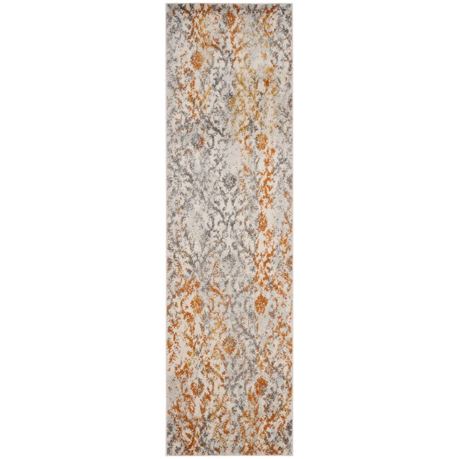 Safavieh Madison Mika Cream/Orange Indoor Lodge Runner (Common: 2 x 10; Actual: 2.3-ft W x 10-ft L)