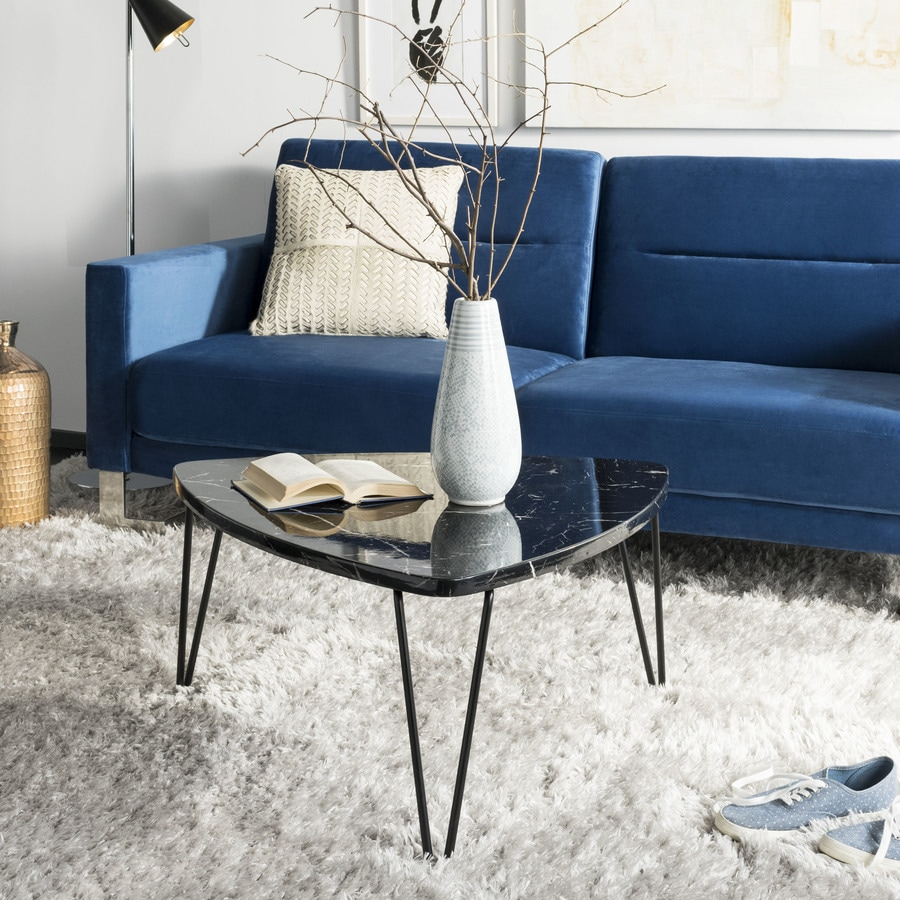 - Safavieh Jacky Black Marble Wood Coffee Table In The Coffee Tables