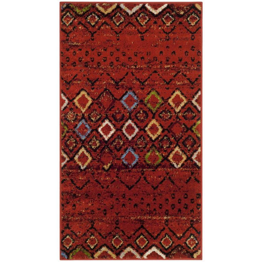 Safavieh Amsterdam Huron Terracotta Indoor Lodge Throw Rug (Common: 2 x 4; Actual: 2.3-ft W x 4-ft L)