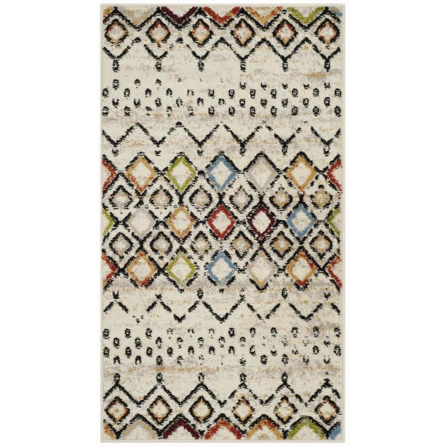 Safavieh Amsterdam Huron Ivory Rectangular Indoor Machine-Made Lodge Throw Rug (Common: 2 x 4; Actual: 2.3-ft W x 4-ft L)