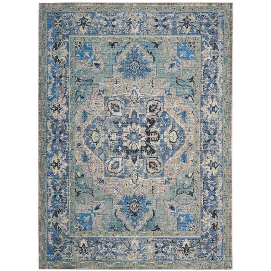 Safavieh Claremont Carrie Blue/Light Gray Rectangular Indoor Distressed Area Rug