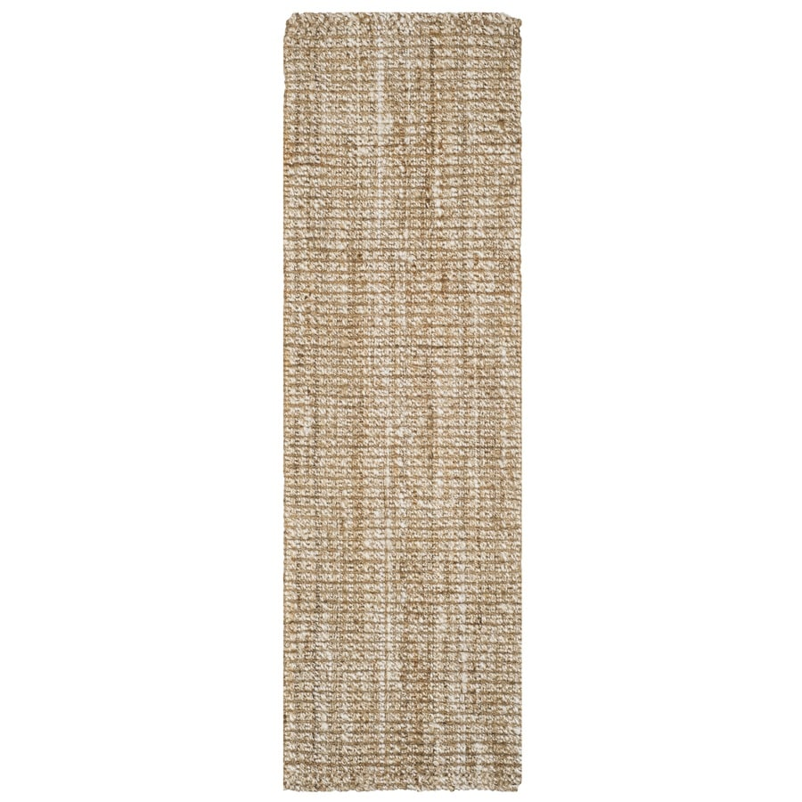 Safavieh Natural Fiber Brookville Natural Indoor Handcrafted Coastal Runner (Common: 2 x 14; Actual: 2.5-ft W x 14-ft L)