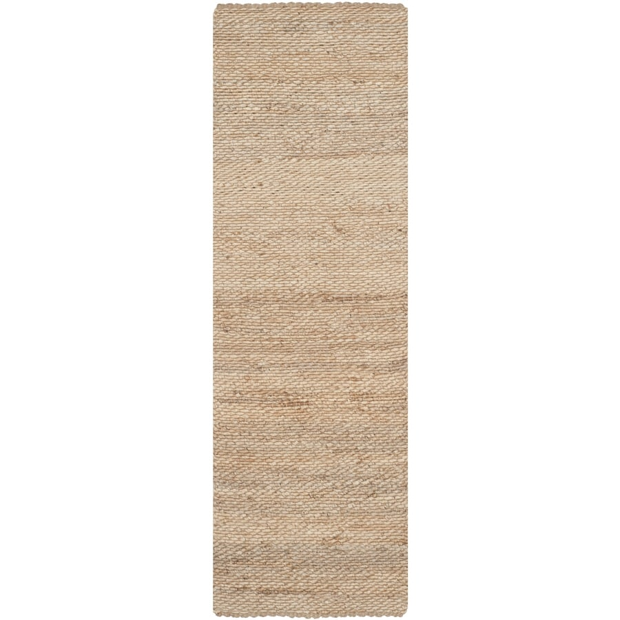 Safavieh Natural Fiber Amity Natural Indoor Handcrafted Coastal Runner (Common: 2 x 14; Actual: 2.5-ft W x 14-ft L)