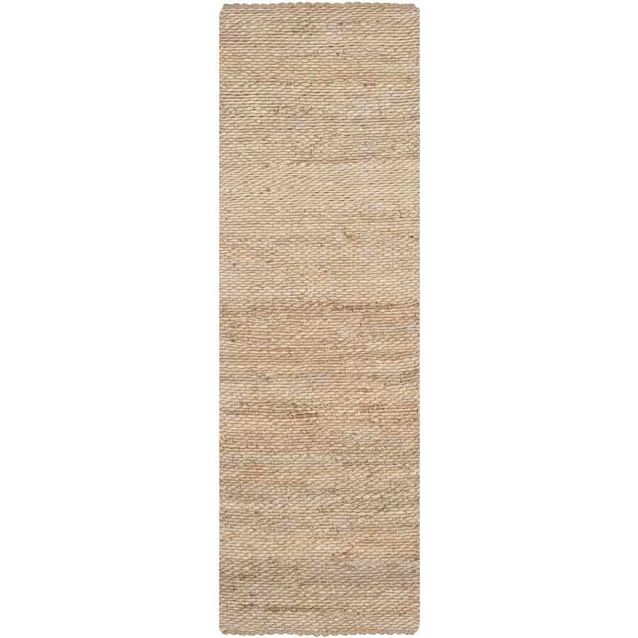 Safavieh Natural Fiber Amity Natural Indoor Handcrafted Coastal Runner (Common: 2 x 16; Actual: 2.5-ft W x 16-ft L)