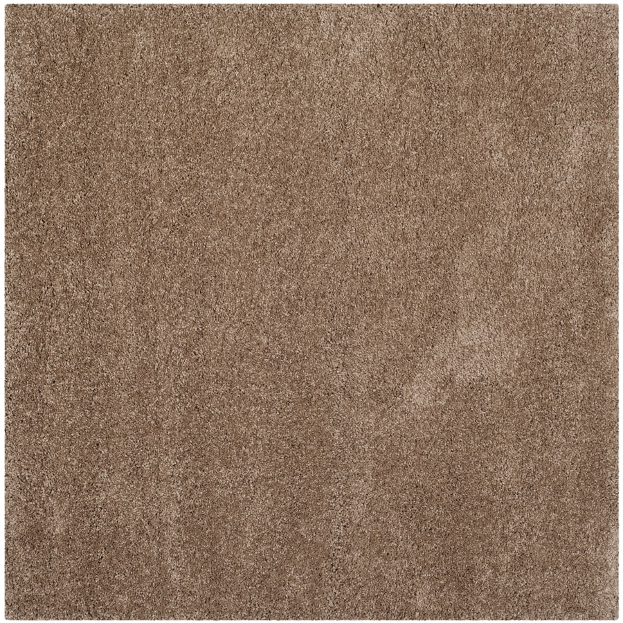 Safavieh Milan Shag Dark Beige Square Indoor Area Rug (Common: 10 x 10; Actual: 10-ft W x 10-ft L)