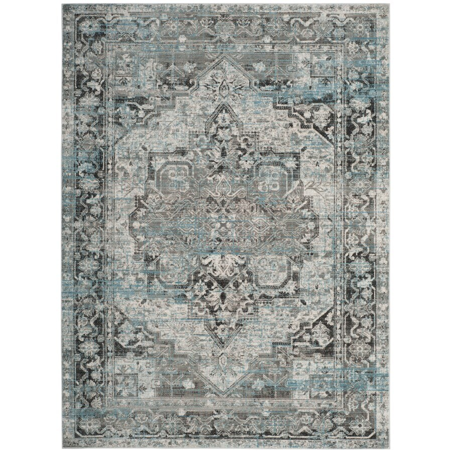 Safavieh Claremont Tamara Ivory/Gray Rectangular Indoor Distressed Area Rug
