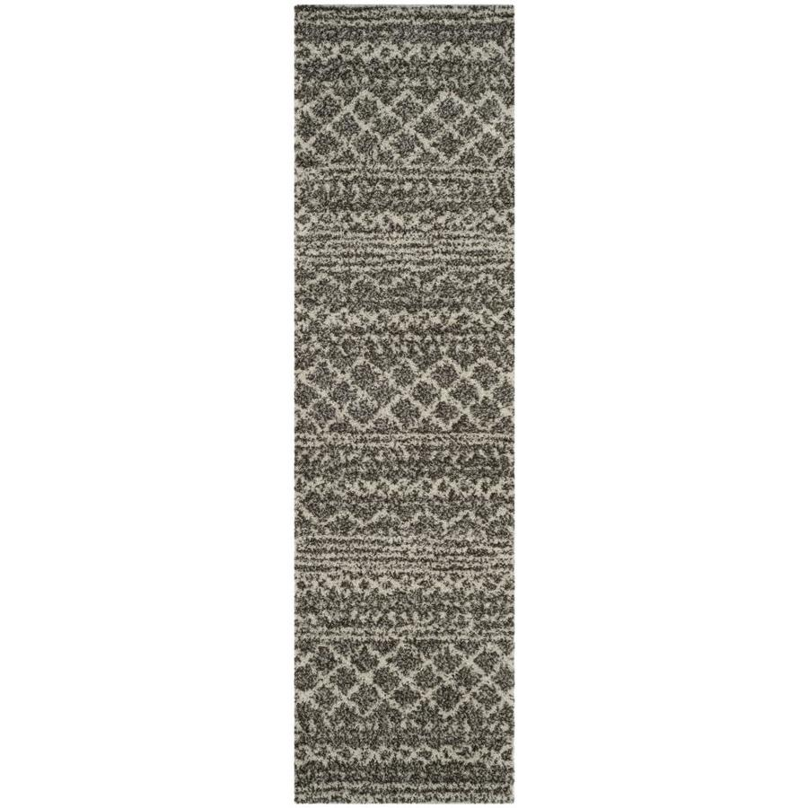 Safavieh Arizona Bennet Brown/Ivory Rectangular Indoor Machine-Made Runner (Common: 2 X 12; Actual: 2.3-ft W x 12-ft L)