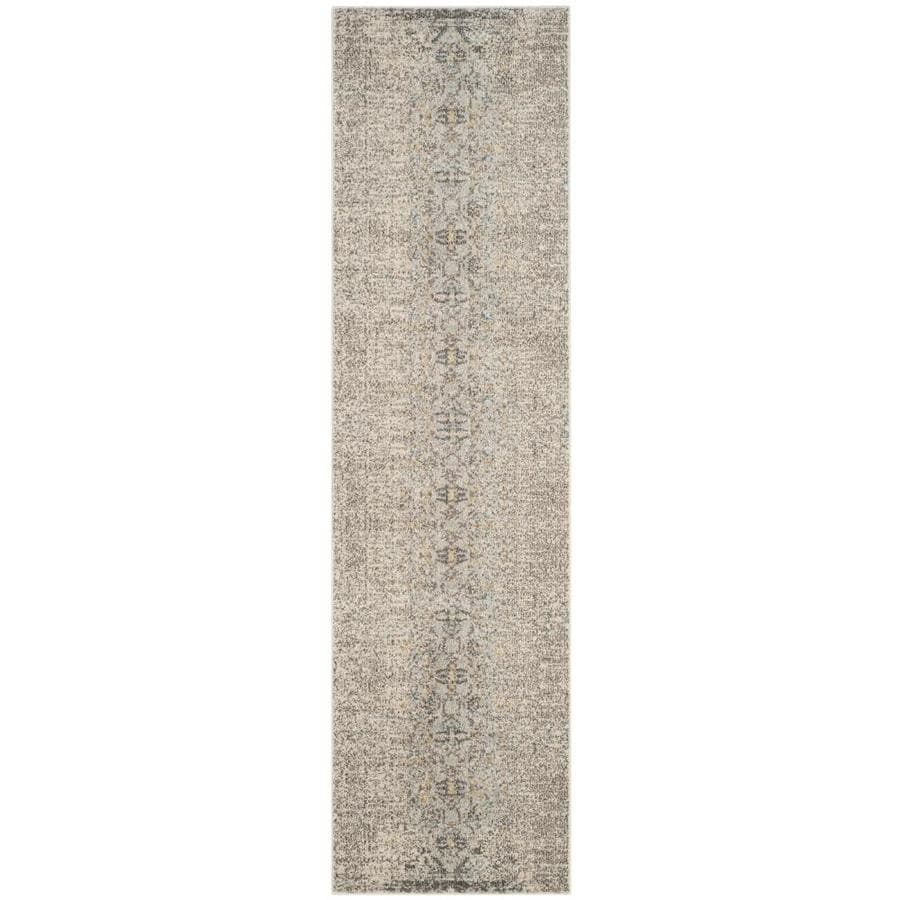Safavieh Monaco Kimberly Gray Indoor Distressed Runner (Common: 2 x 14; Actual: 2.2-ft W x 14-ft L)