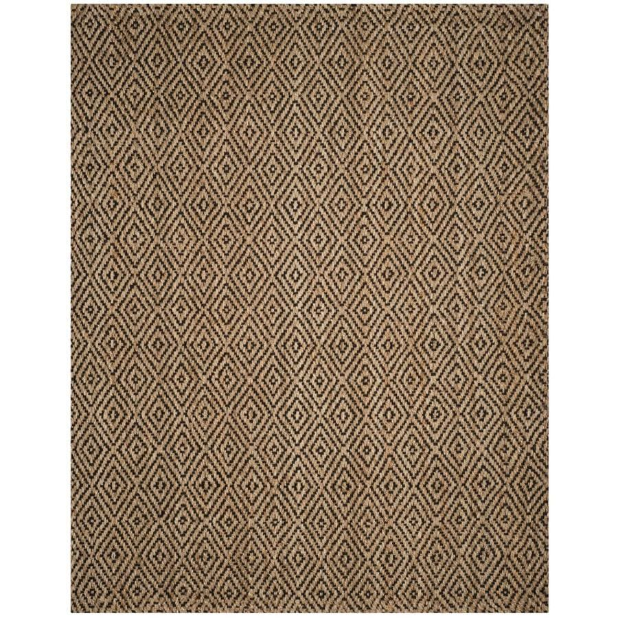 Safavieh Natural Fiber Shinnecock Natural/Black Indoor Handcrafted Coastal Area Rug (Common: 11 x 15; Actual: 11-ft W x 15-ft L)