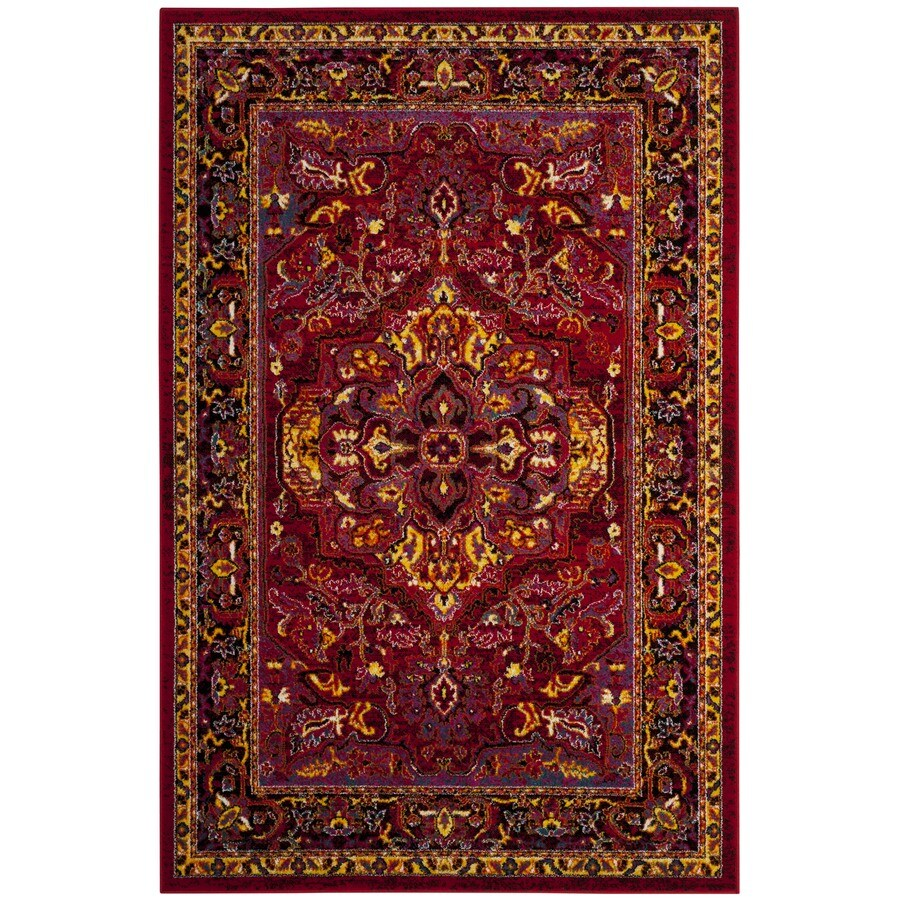 Safavieh Cherokee Regen Red/Fuchsia Indoor Oriental Area Rug (Common: 5 x 8; Actual: 5.1-ft W x 7.5-ft L)