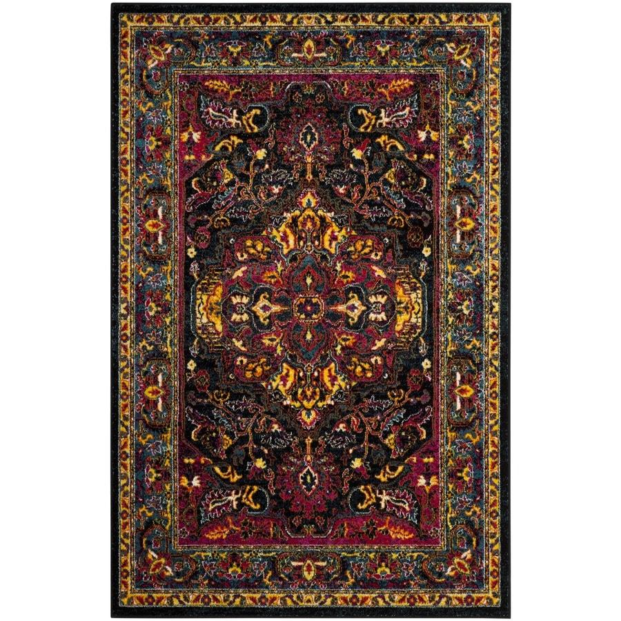 Safavieh Cherokee Regen Black/Blue Rectangular Indoor Machine-Made Oriental Area Rug (Common: 5 x 7; Actual: 5.1-ft W x 7.5-ft L)