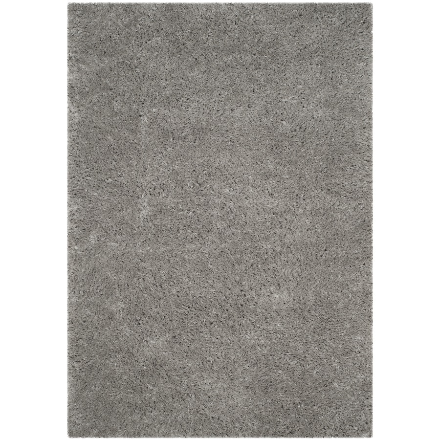 shop safavieh polar shag silver indoor area rug common 11 x 15 actual 11 ft w x 15 ft l at. Black Bedroom Furniture Sets. Home Design Ideas