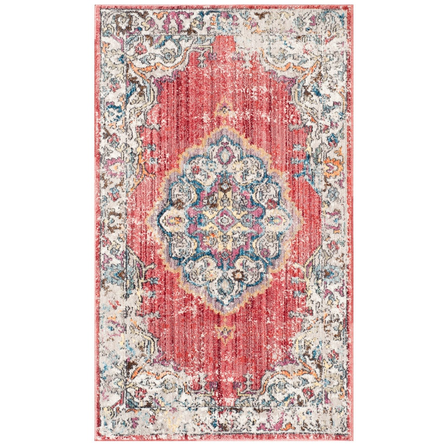 Safavieh Bristol Tabriz Rose/Light Gray 3-ft x 5-ft