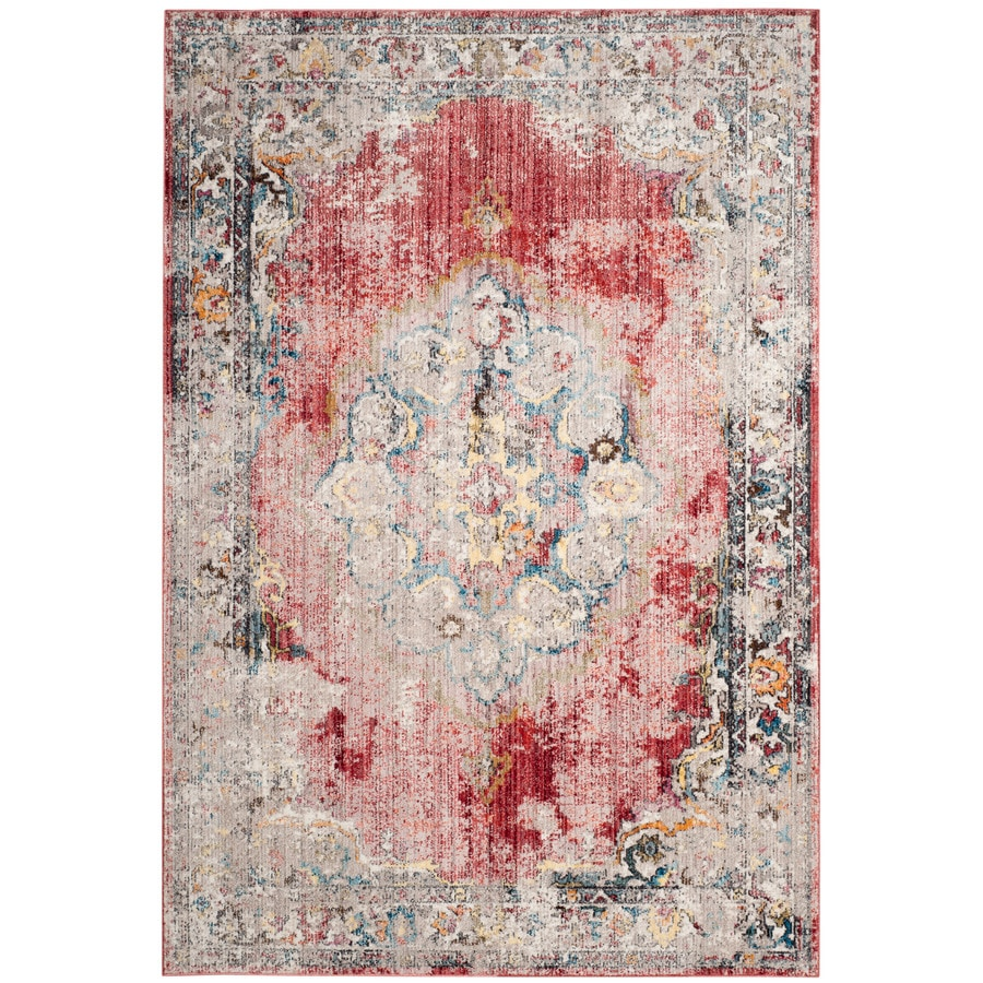 Safavieh Bristol Tabriz Rose/Light Gray Rectangular Indoor Machine-Made Area Rug (Common: 8 x 10; Actual: 8-ft W x 10-ft L)
