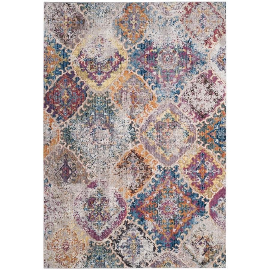 Safavieh Bristol Baktiar Blue/Light Gray 8-ft x 10-ft
