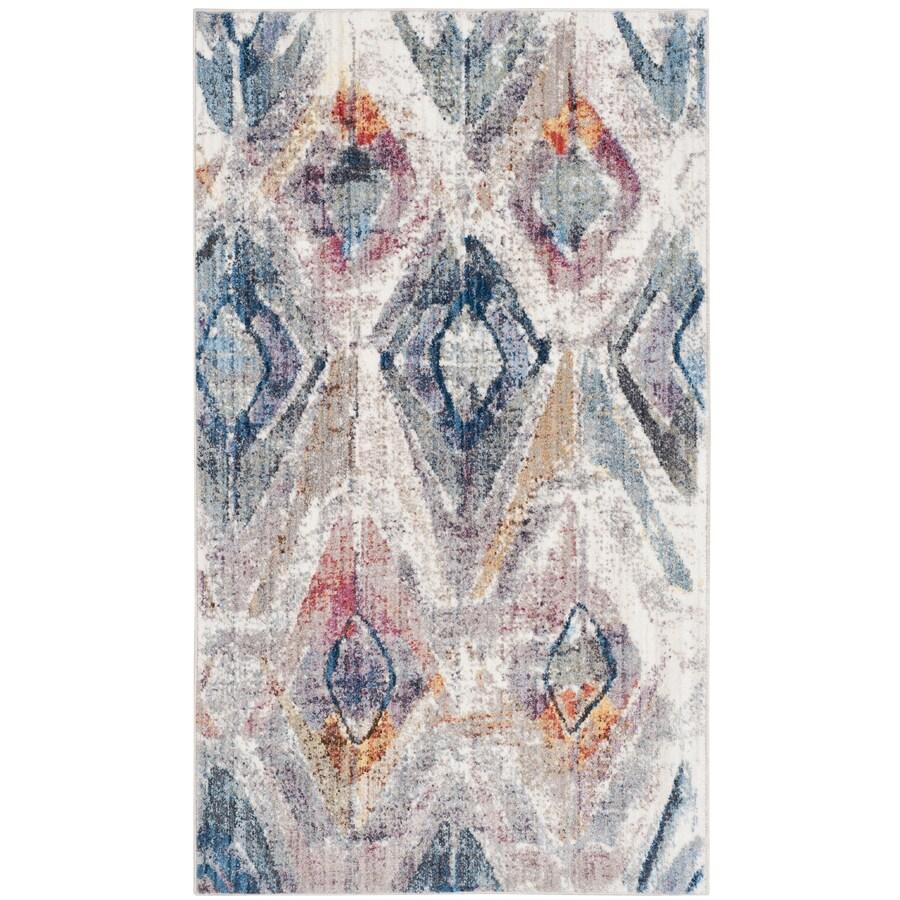 Safavieh Bristol Qalif Lavender/Light Gray Rectangular Indoor Machine-Made Area Rug (Common: 4 x 6; Actual: 4-ft W x 6-ft L)