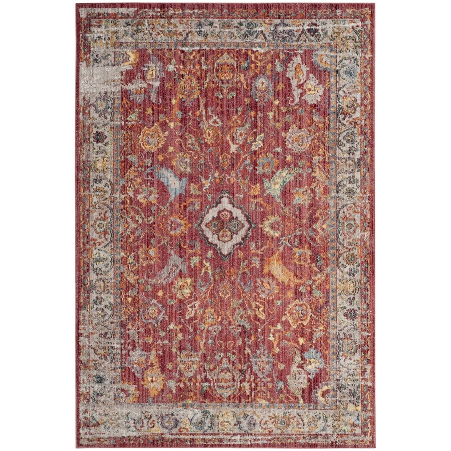 Safavieh Bristol Mellila Rose/Light Gray 5-ft 1-in x 7-ft 6-in