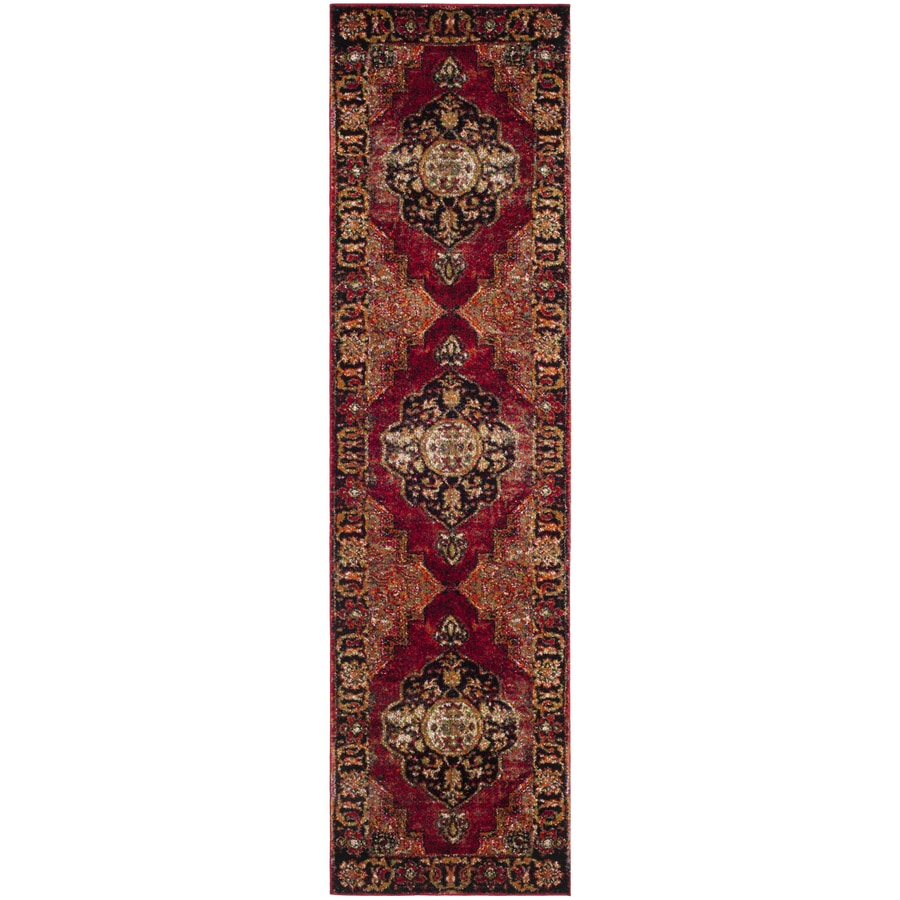 Safavieh Vintage Hamadan Tabriz Red Indoor Lodge Runner (Common: 2 x 22; Actual: 2.2-ft W x 22-ft L)