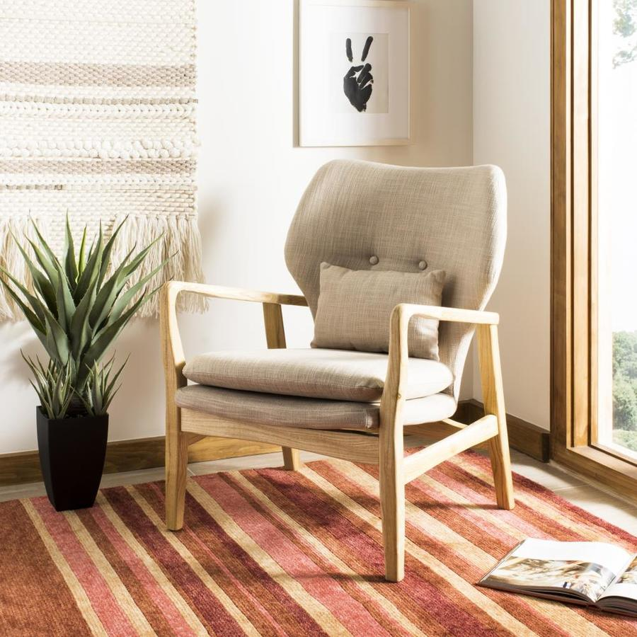 Safavieh Tarly Scandinavian Beige Natural Accent Chair At