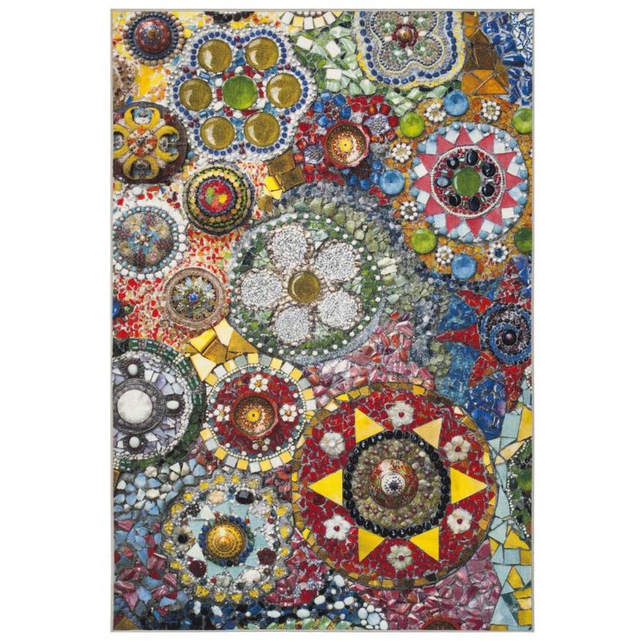 Safavieh Aztec Cihua Multicolor Indoor Area Rug (Common: 4 x 6; Actual: 4-ft W x 6-ft L)