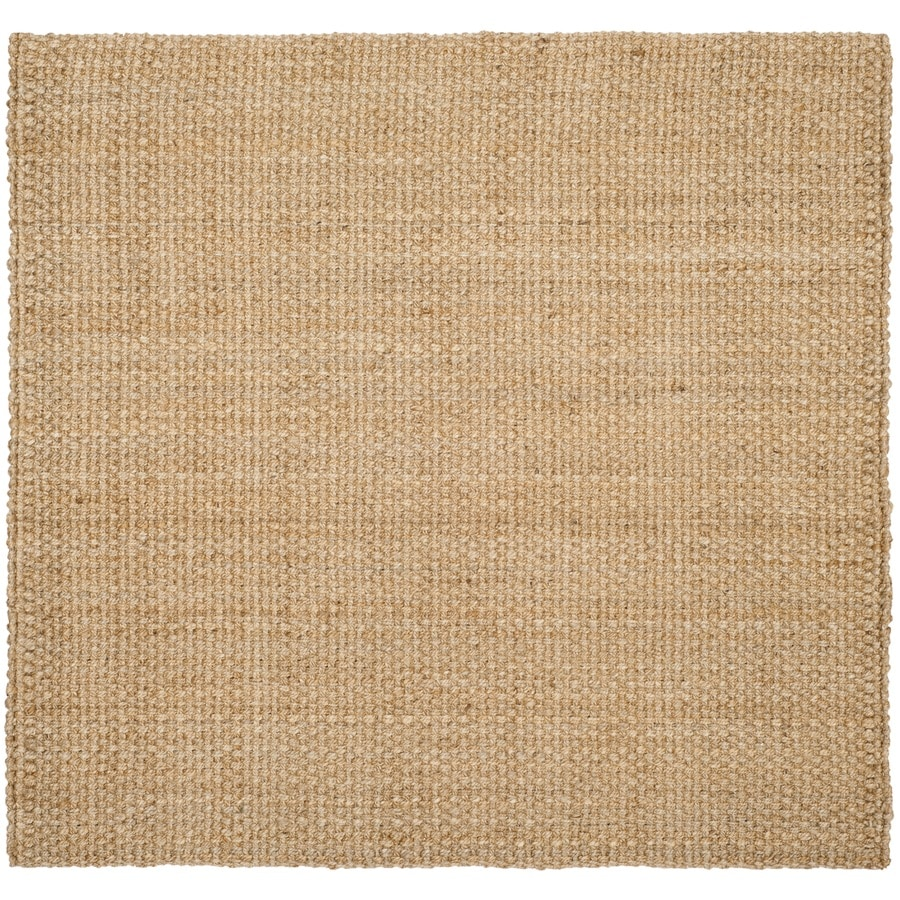 Safavieh Natural Fiber Culpepper Natural Square Indoor Handcrafted Coastal Area Rug (Common: 6 x 6; Actual: 6-ft W x 6-ft L)