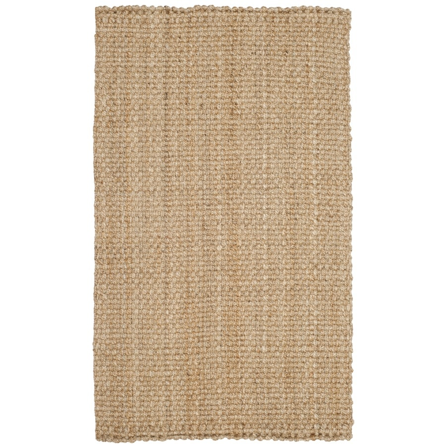 Safavieh Natural Fiber Culpepper Natural Rectangular Indoor Handcrafted Coastal Throw Rug (Common: 3 x 5; Actual: 3-ft W x 5-ft L)