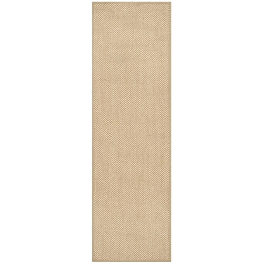 Safavieh Natural Fiber Seaview Maize/Linen Indoor Coastal Runner (Common: 2 x 18; Actual: 2.5-ft W x 18-ft L)