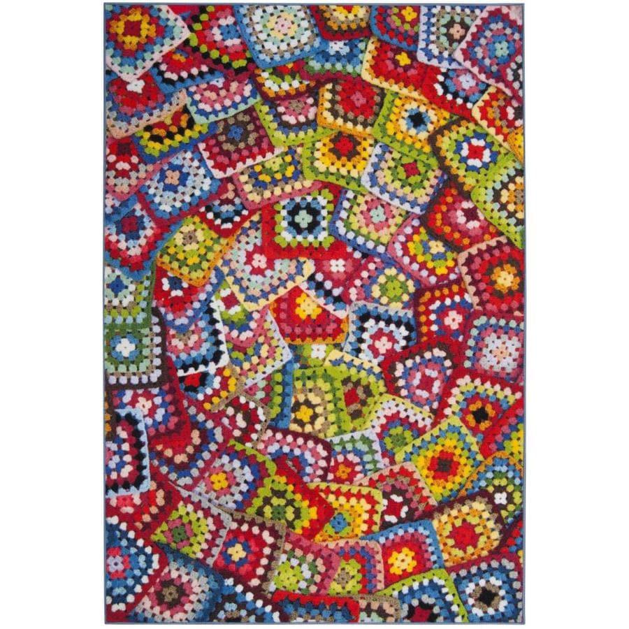 Safavieh Aztec Tusco Multicolor Indoor Area Rug (Common: 4 x 6; Actual: 4-ft W x 6-ft L)