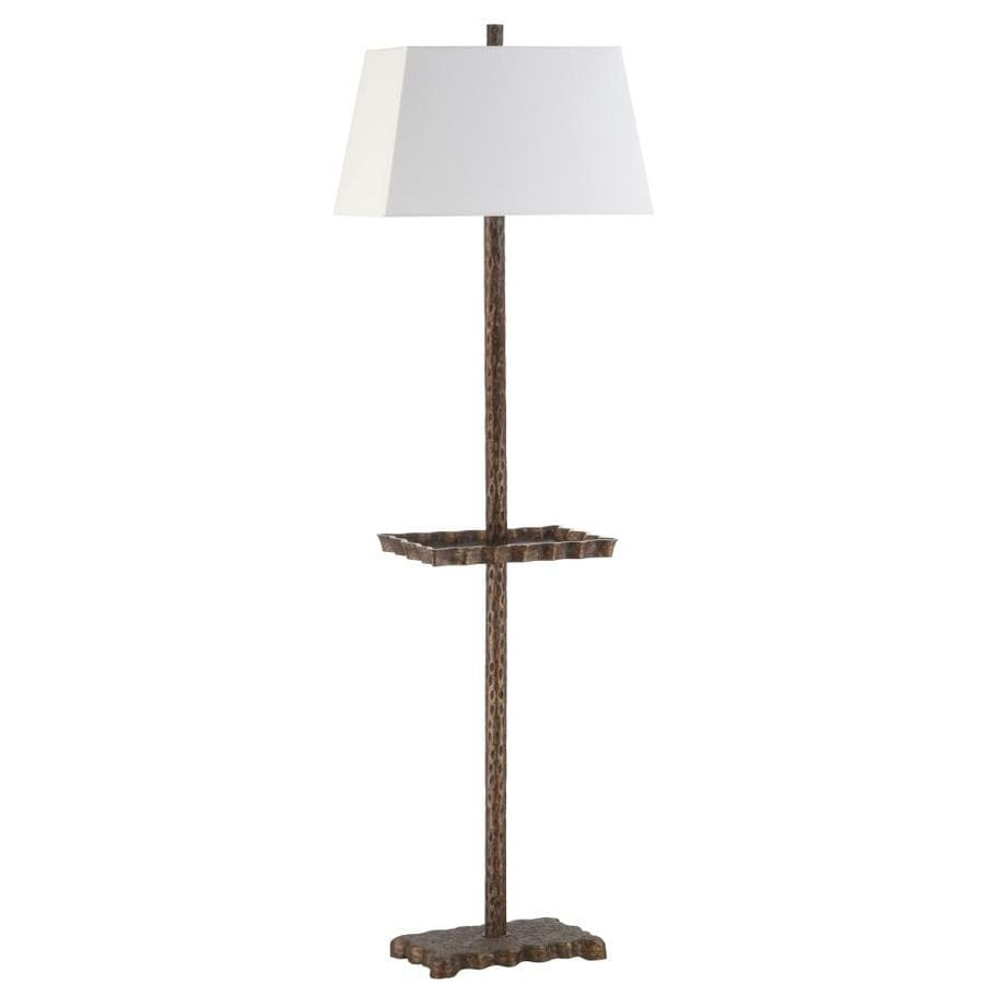 Shop safavieh breccan tray floor lamp brown at lowes safavieh breccan tray floor lamp brown aloadofball Images