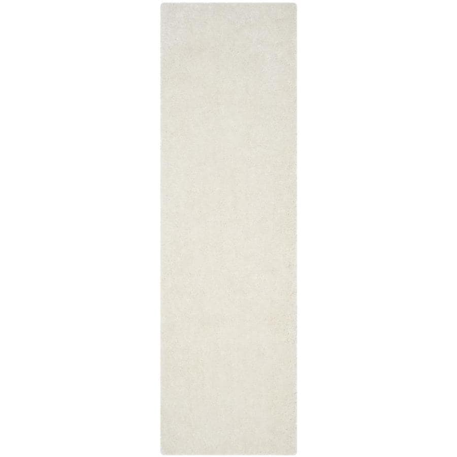 Safavieh Luxe Shag Ivory Handcrafted Runner (Common: 2 x 6; Actual: 2.25-ft W x 6-ft L)