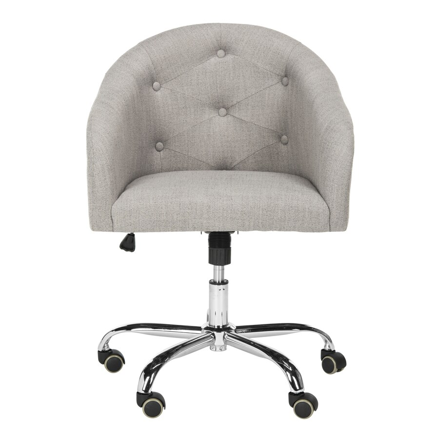 Safavieh Amy Gray/Chrome Transitional Task Chair