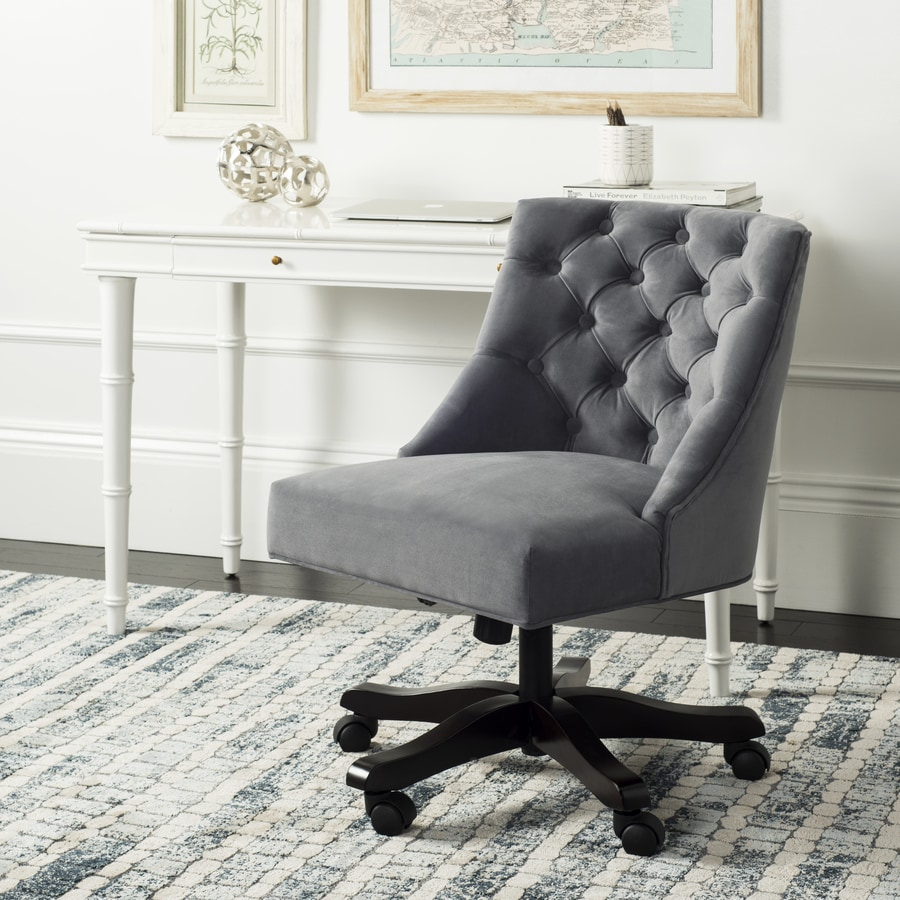 Safavieh Soho Gray Transitional Desk Chair At Lowes Com