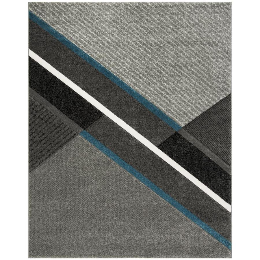 Safavieh Hollywood Flemington Grey/Teal 8-ft x 10-ft