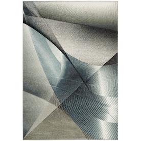 Safavieh Hollywood Skota 5 x 8 Gray/Teal Indoor Geometric Mid-Century Modern Area Rug