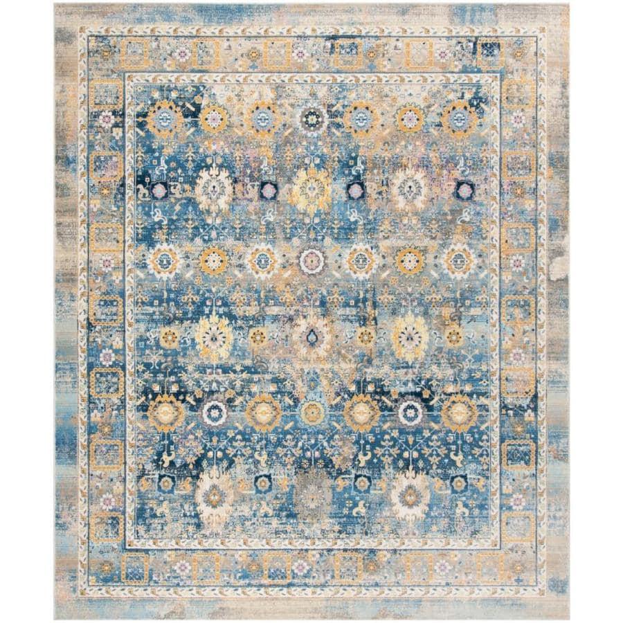 Safavieh Claremont Chystie Blue/Gold Rectangular Indoor Distressed Area Rug