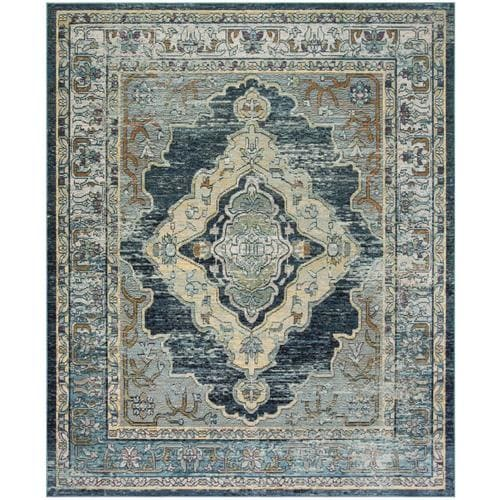 Safavieh Crystal Emory 9 X 12 Blue Yellow Floral Botanical Oriental Area Rug In The Rugs Department At Lowes Com