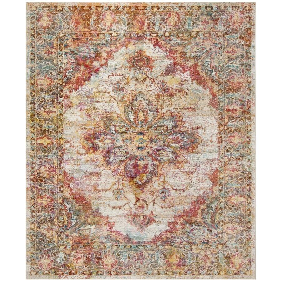 Safavieh Crystal Dansa Cream/Rose Rectangular Indoor Distressed Area Rug